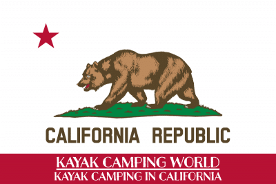 Kayak camping in California
