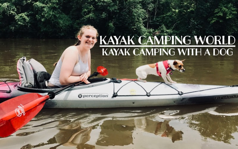 kayak camping with a dog